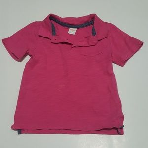 Gymboree Boys Pink Polo with Front Pocket Size 3T
